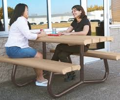 poly picnic table recycled polyethylene plank table top and