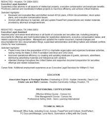 Corporate Paralegal Resume Sample Paralegal Resume Objective Examples