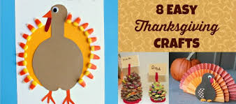 eight easy thanksgiving crafts