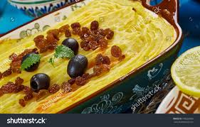 cuisine du maghreb maghreb cuisine torshi libyan mashed potatoes stock photo 778202950