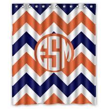 Orange And Blue Shower Curtain Best Orange Chevron Shower Curtain