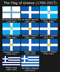 Greece Flag Colors The History Of The Flag Of Modern Greece Vexillology
