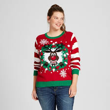 Ugly Christmas Sweater With Lights Women U0027s Plus Size Light Up Reindeer Pullover Sweater Ugly