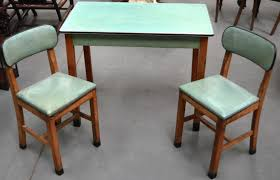 1950s Kitchen Furniture A Retro 1940s 1950s Kitchen Table And Two Chairs By Cantel With