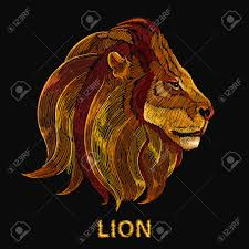 lion embroidery classical embroidery head of a lion king of