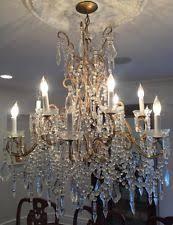 Light Crystal Chandelier Vintage Crystal Chandelier Ebay
