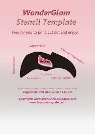 Halloween Airbrush Makeup Kit by The Airbrush Makeup Guru Free Stencil Templates