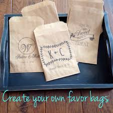 wedding treat bags custom wedding favors cookie bags recycled brown paper cake take