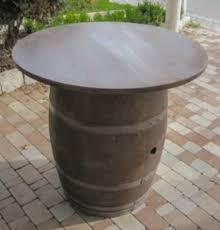 Barrel Bar Table Whiskey Barrel Pub Table From Eco Friendly Digs