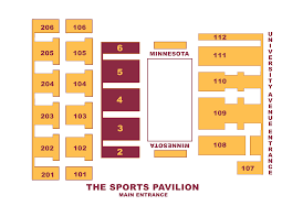 sports pavilion seating charts