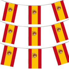 Plastic Flags 400ft 120 Meters Spanish Flag Bunting Spain Party Euro Decoration
