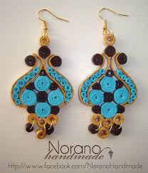 handmade paper earrings quilled earrings turkish tulip by norano handmade on deviantart