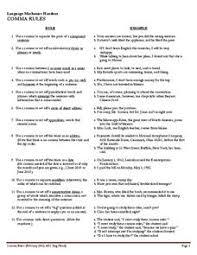 using commas addresses dates lesson plans u0026 worksheets