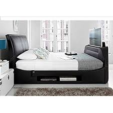 Ottoman Tv Bed Happy Beds Metro Ottoman Tv Bed Grey Fabric Frame Storage Modern