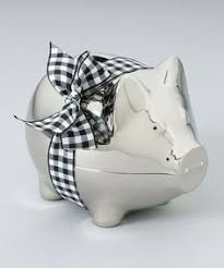Keepsake Piggy Bank Shimmering Butterflies Large Piggy Bank Personalization Available
