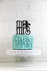 fleur de lis cake topper mr mrs fleur de lis wedding cake topper or sign for new