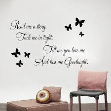 u0026 butterfly read me a story and kiss me goodnight quotes wall