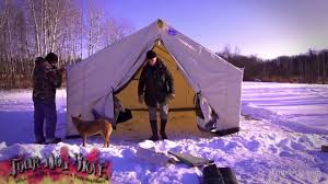Wall Tent by Davis Wall Tent Winter Set Up Start To Finish Instructions Set