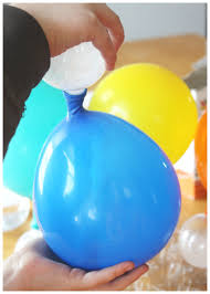 balloon baking soda vinegar experiment for kids science inflating