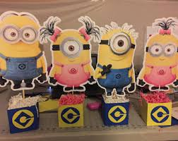 minion centerpieces minion centerpiece etsy