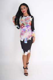 rebecca rhoades rita black u0026 multicolour floral print backless