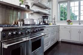 elegant industrial inspired kitchen old house restoration