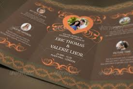 free sle wedding programs 21 trifold wedding invitation templates free sle exle