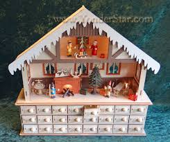 advent calendar lighted wooden advent calendar winter chalet advent calendar