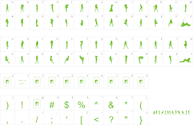 font silouette stencils for windows free
