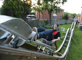 like a rolling zone student builds backyard coaster toronto star