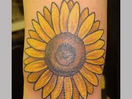yellow sunflower tattoo in 2017 real photo pictures images and
