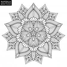 outline mandala for coloring book decorative ornament anti