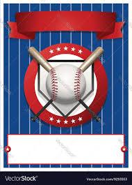 baseball flyer template royalty free vector image