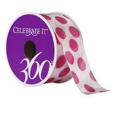 polka dot ribbon 1 5 sheer wired polka dot ribbon by celebrate it 360