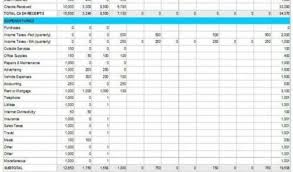 expenses and income spreadsheet template income expense statement