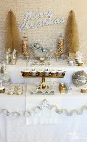 kara u0027s party ideas gold silver christmas dessert table