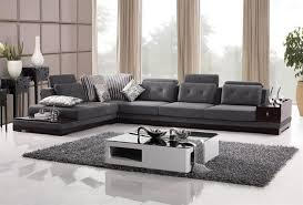 modern sectional sofas los angeles vanity modern sectional sofa in slate color microfiber upholstery