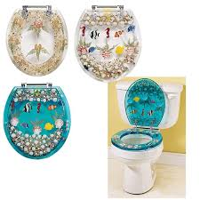 Clear Seashell Toilet Seat Gifts Clothing Jewelry Home Decor
