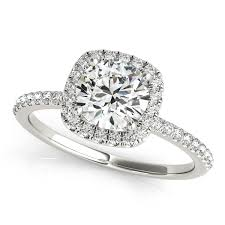 engagement rings square images Square halo round diamond engagement ring 14k white gold 1 00ct jpg