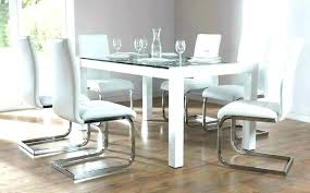 kitchen table round 6 chairs round glass dining table and chairs contemporary glass dining table
