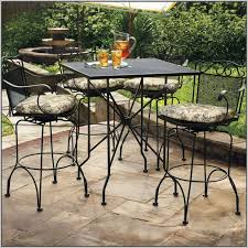 Tall Patio Tables Used Wrought Iron Patio Furniture Sets Patios Home Design