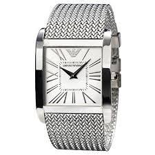 armani bracelet silver images Emporio armani ar2014 mens silver dial mesh bracelet designer watch jpg