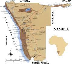 africa map kalahari desert namibia africa