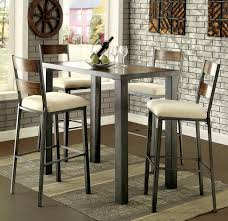 metal frame table and chairs 5 pc jazlyn ii collection industrial style weathered oak finish wood