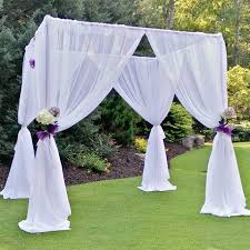 wedding arch rental rent a sheer drape wedding arch cube at all seasons rent all