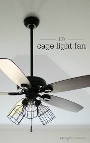 Ceiling Fan With Pendant Light Diy Cage Light Ceiling Fan A Hanging Light Home Diy On Cut
