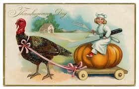 thanksgiving postcard addressed to mamie collins from leda bahl