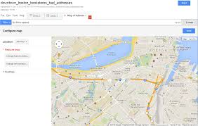 Map Of T Boston by Google Fusion Tables Turn A Spreadsheet Of Addresses Into Dots