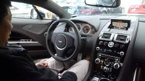 aston martin cars interior 2012 aston martin rapide engine start u0026 interior youtube