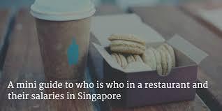 chef de cuisine salary restaurant and salaries in singapore